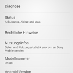 Sony Xperia Z1 Compact vorinstallierte Android Version