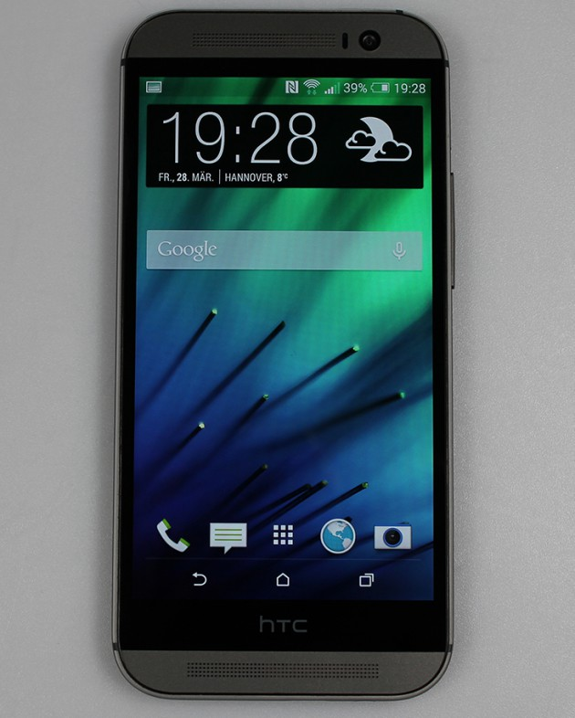HTC One (M8) - Frontansicht Display an  2