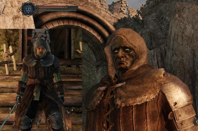 Tagescreme versagt: Strammer Held vor dem ersten Tod (links) und nach diversen Ableben (rechts).
