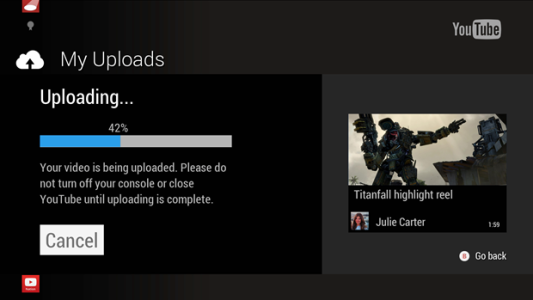 Microsoft kündigt YouTube-Video-Sharing für Xbox One an