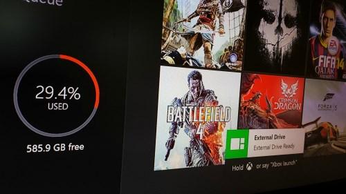 Xbox One erhält demnächst Unterstützung für USB-Festplatten