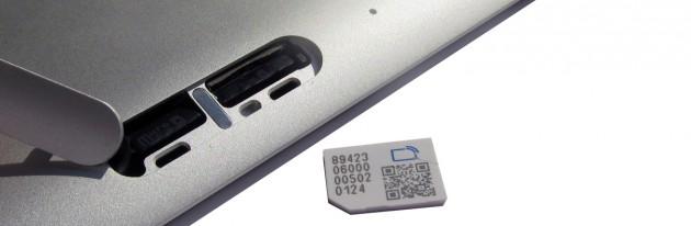 Eine SIM-Karte gehört zum Lieferumfang
