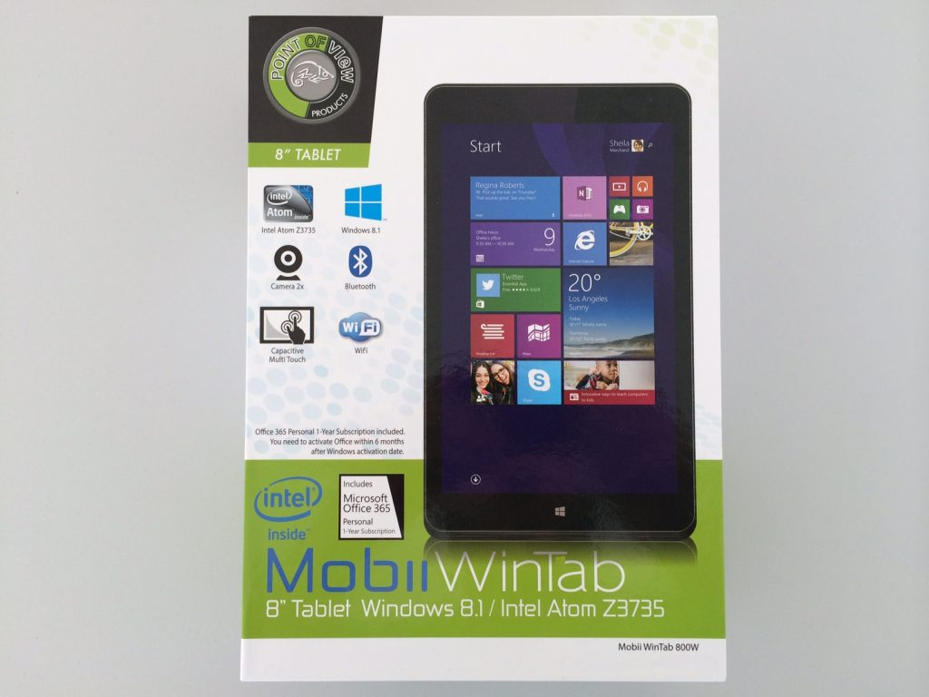 Point of View Mobii WinTab 800W: 150 Euro Tablet mit Windows 8.1 und Office 365 ausprobiert