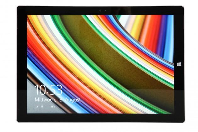 Das Display des Microsoft Surface Pro 3 überzeugt durch seinen hohen Kontrast