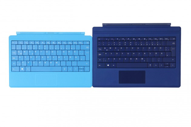 Type Cover für Microsoft Surface Pro  2 (links) und 3