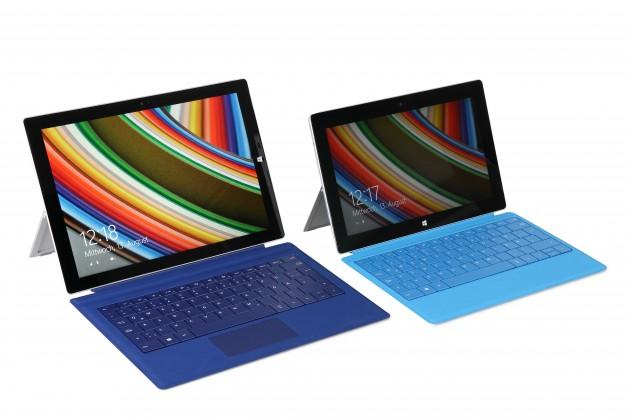 Microsoft Surface Pro 3 (links) im Vergleich zum Microsoft Surface Pro 2