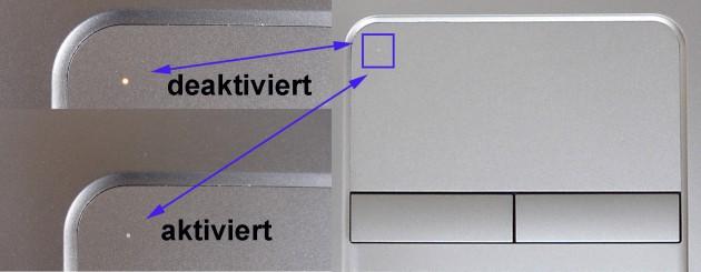 Probook Mousedisplay aktiviert - deaktiviert LED
