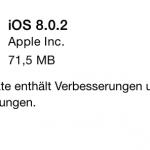 Apple: iOS 8.0.2 ist da!