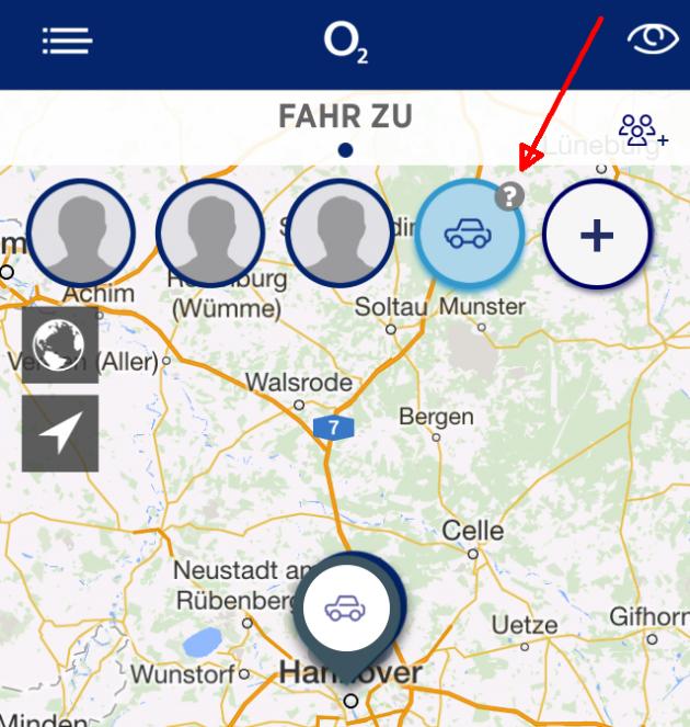 Mit einem kleinen Fragezeichen weist die App auf nicht erfolgte Standortmeldungen hin. Der Hinweis könnte auffälliger sein.