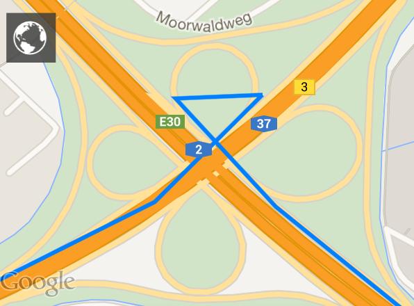 Das GPS-Signal sendet das o2 Car Connection Kit in Intervallen, was zu einer halbwegs genauen Protokollierung der Fahrstrecke führt.