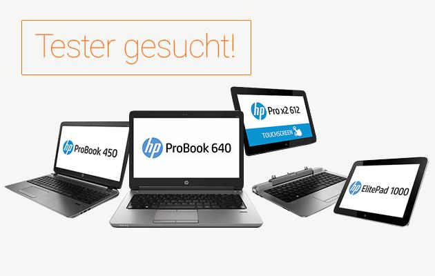 Tester gesucht für HP Notebooks und Tablets mit Mobile Connect