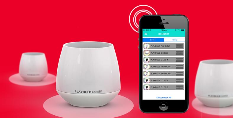 romanitk mit playbulb candle led lichter per smartphone app steuern. Black Bedroom Furniture Sets. Home Design Ideas