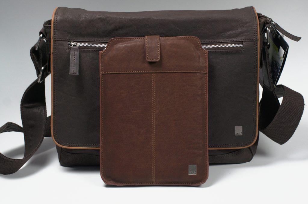Kurztest + Gewinnspiel: aha Echtleder Messenger Bag und Tabletsleeve