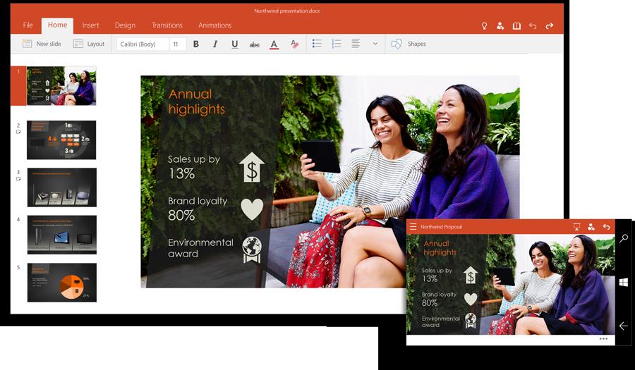 Erste Touch-Office-Apps für Windows 10 als Preview-Version erhältlich