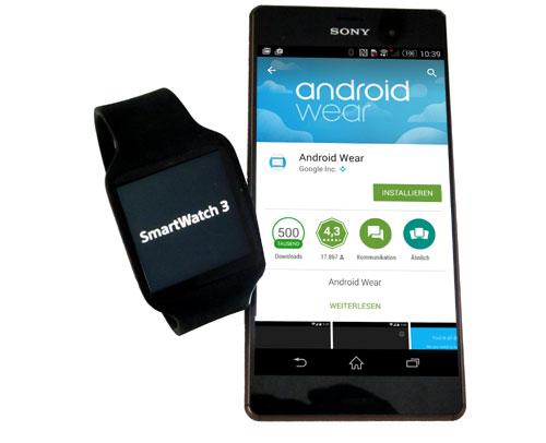 SONY Smartwatch 3 mit Android Wear – Kontrollzentrale am Handgelenk