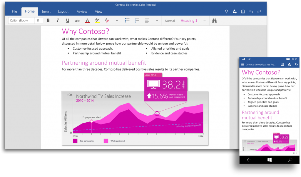 Office Touch: Microsoft zeigt Apps für Windows 10 im Video