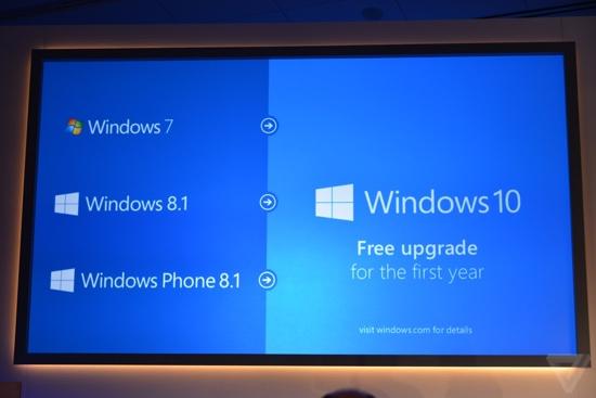 Windows 10: Kostenloses Upgrade für Windows-7- und -8.1-Nutzer im ersten Jahr