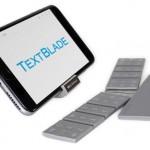 Textblade: Ungewöhnliche Mini-Tastatur mit 9 Tasten für  ...