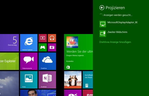Miracast Windows 8