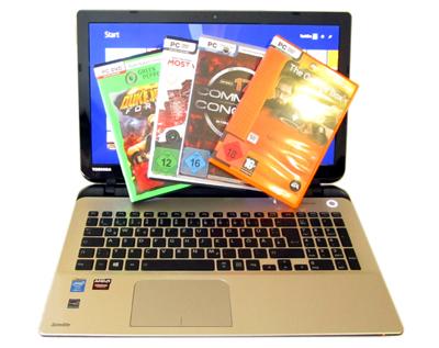 Anwendertest: Gaming-Notebook Toshiba Satellite L50-B-TD [Full-HD-Display, Core i7 und AMD Grafik]