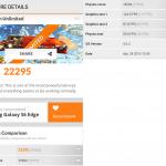 3DMark Ice Storm Benchmark Samsung Galaxy S6 Edge