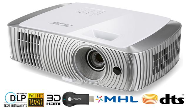 Test: Acer H7550BD FullHD-Beamer mit Chromecast-, DTS- und 3D-Unterstützung
