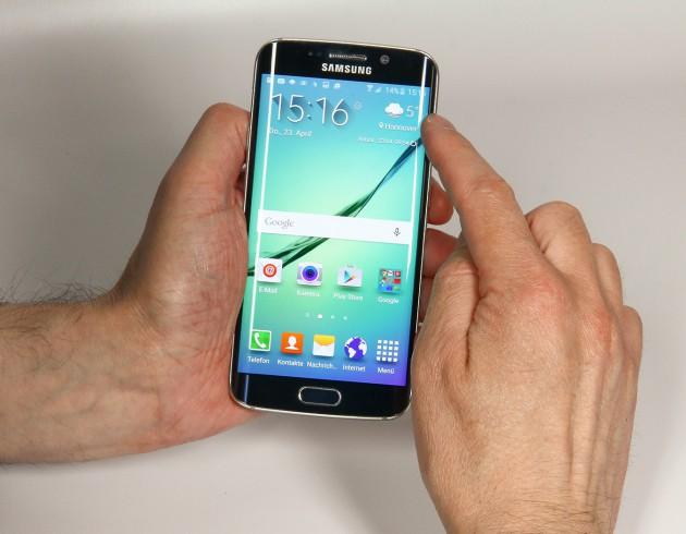 Samsung Galaxy S6 Bedienung mit Spiegelungen