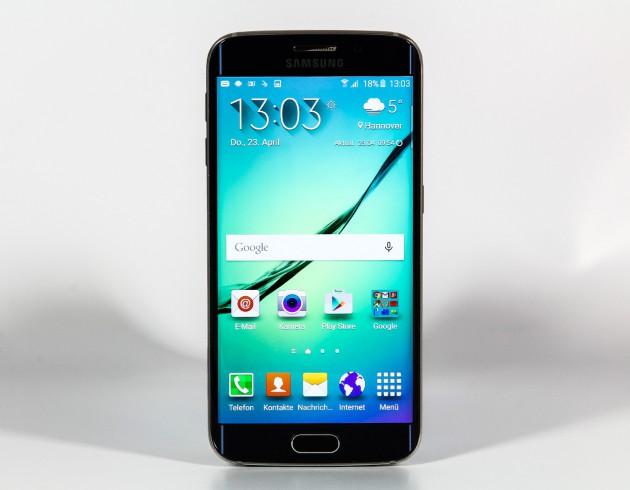 Samsung Galaxy S6 Edge Frontansicht