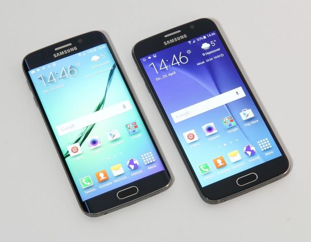 Samsung Galaxy S6 Vorderseite nebeneinander