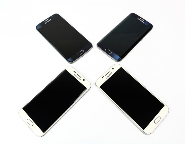 Samsung Galaxy S6 in allen Farben Frontseite