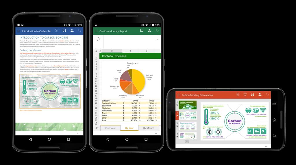 Microsoft: Word, Excel und PowerPoint jetzt auch für Android-Smartphones erhältlich