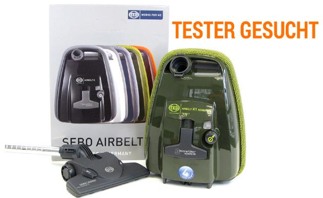 [Tester gesucht] Staubsauger SEBO AIRBELT K1 mit 700 Watt und Energieeffizienzklasse A