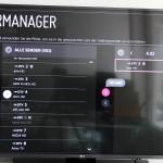 LG 55LF6309: Sendermanager
