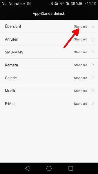 Android Einstellungen Uebersicht auswaehlen