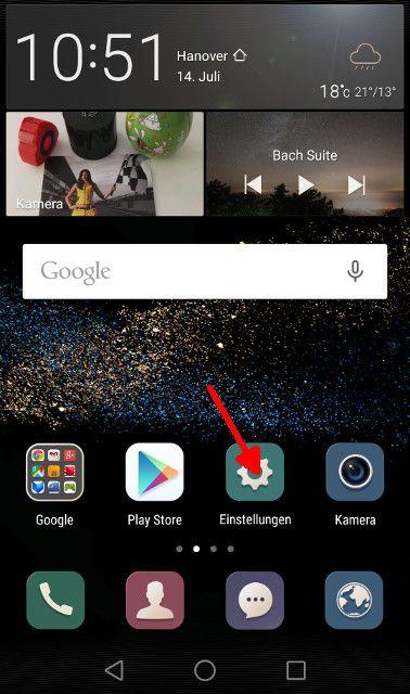 Android Lollipop Einstellungen aufrufen