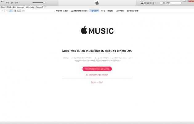 iTunes gibt es mit Apple Music für OS X und Windows