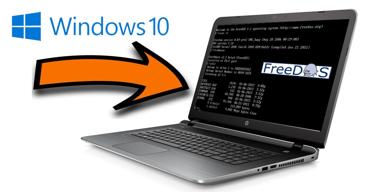 So installiert Ihr Windows 10 auf einem FreeDOS/Linux System