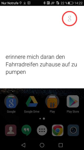 Google Now Ortsabhaengige Erinnerung