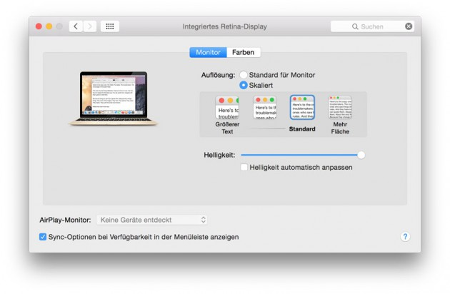 MacBook Aufloesung