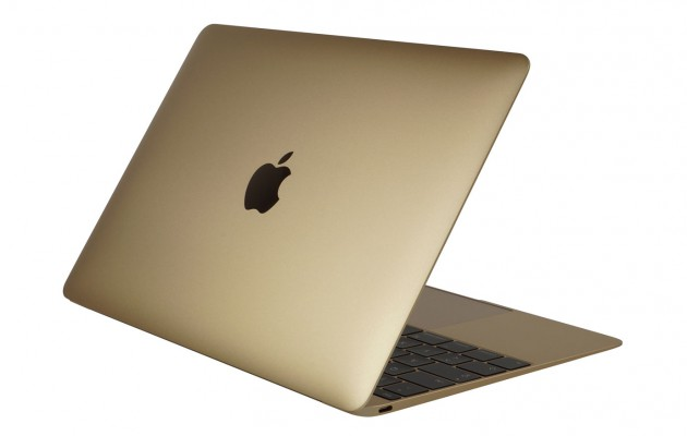 MacBook Gold Rueckseite
