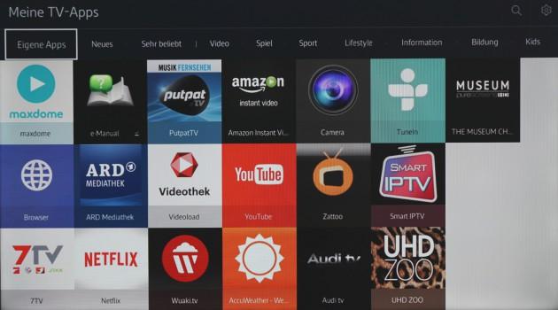 Samsung Tizen TV Eigene Apps