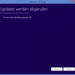 Updates zu Windows 10 werden aufgerufen