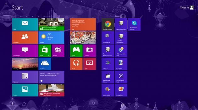 Geliebt, gehasst, gekachelt: Der neue Startbildschirm bei Windows 8 spaltete die Nutzerschaft.