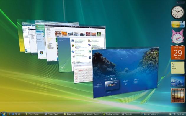 Dynamisch zwischen den Fenstern wechseln: Flip 3D in Windows Vista