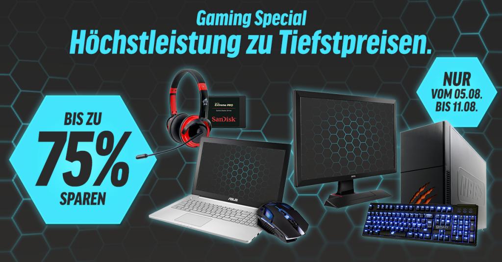 Gamescom 2015 Gaming Special  – Bis zu 75 % bei ausgesuchter Hardware sparen