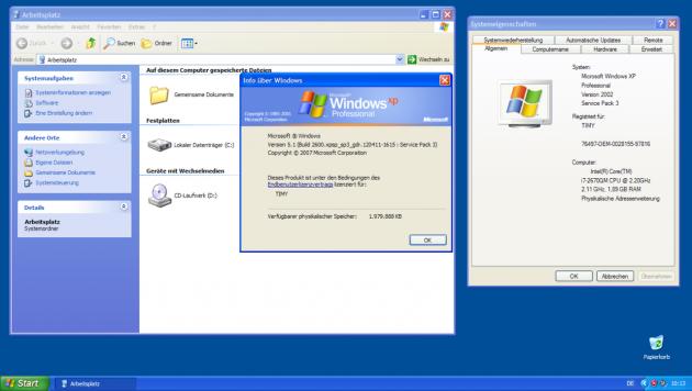 Die Oberfläche Luna in Windows XP
