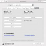 Informationen über Treiber-Version und Firmware (Mac).