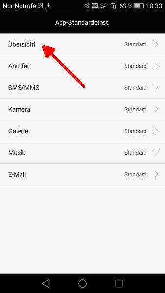 Android Launcher Schritt 4 Uebersicht waehlen