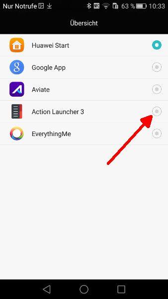 Android Launcher Schritt 5 Neuen Launcher waehlen