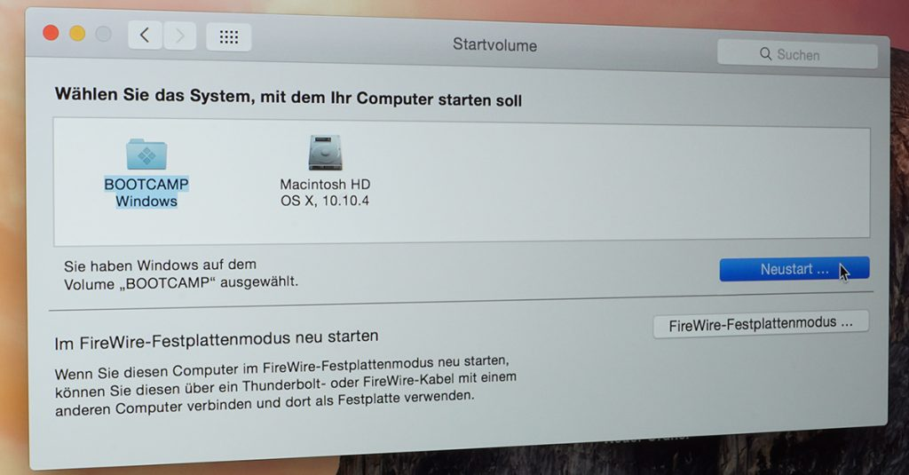 Windows 10 und OS X im Dual-Boot